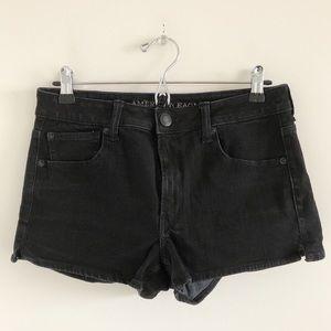 🆕 American Eagle Black Hi-Rise Shortie Size 8